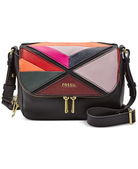 Fossil Patchwork Crossbody - fossil patchwork small flap crossbody lyst