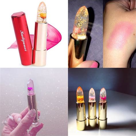 Lipstik Bunga cantiknya lipstick transparan berisi bunga asli ini hebohkan netter