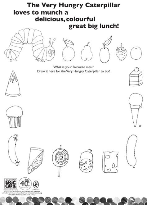 Free Coloring Pages Of Hungry Caterpillar The Hungry Caterpillar Coloring Pages