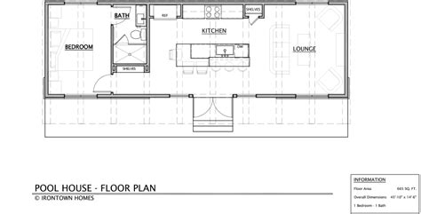 pool house floor plans free pool house irontown homes