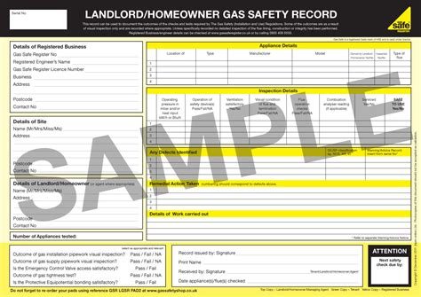 Osha Records Gas Safety Records What Are They Gas Safe Register