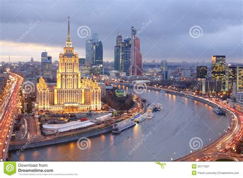 boat building ukraine hotel ukraine and moscow city business complex editorial