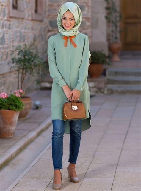 Tunik Denim Grey Dress Denim Abu uzun tunik 5011 199 ağla kuaybe gider my style