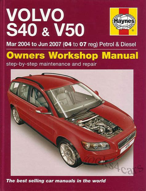 shop manual s40 v50 service repair volvo book haynes chilton s 40 ebay