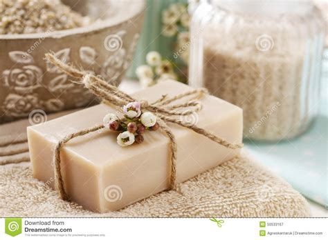 Handmade Picture - bar of handmade soap stock photo image 50533167
