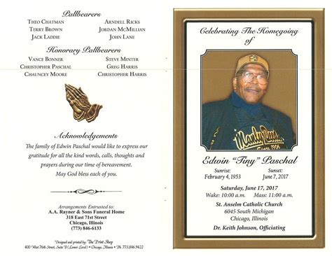 funeral home obituaries edwin tiny paschal obituary aa