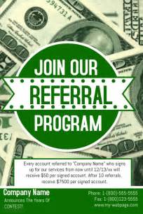 referral flyer template referral flyer postermywall