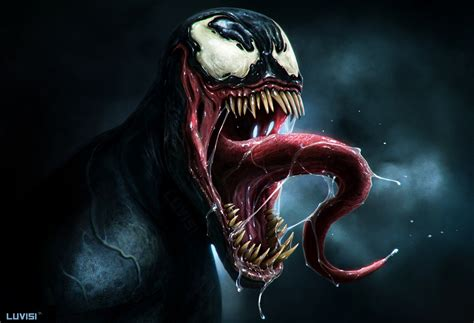 venom painting venom by danluvisiart on deviantart