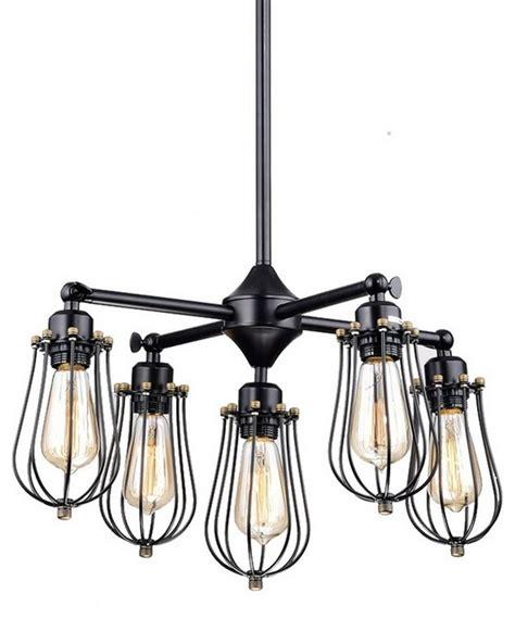 harrison 5 light chandelier claxy harrison 5 light wire cage chandelier black