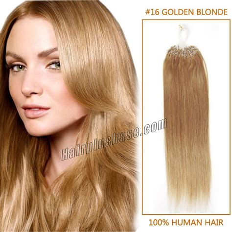 16 inches hair extensions 16 inch 16 golden micro loop human hair extensions
