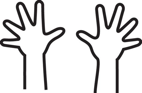 coloring pages of two hands hands