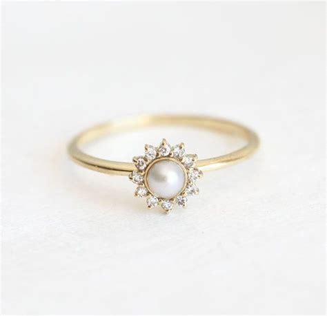 17 best ideas about pearl engagement rings on