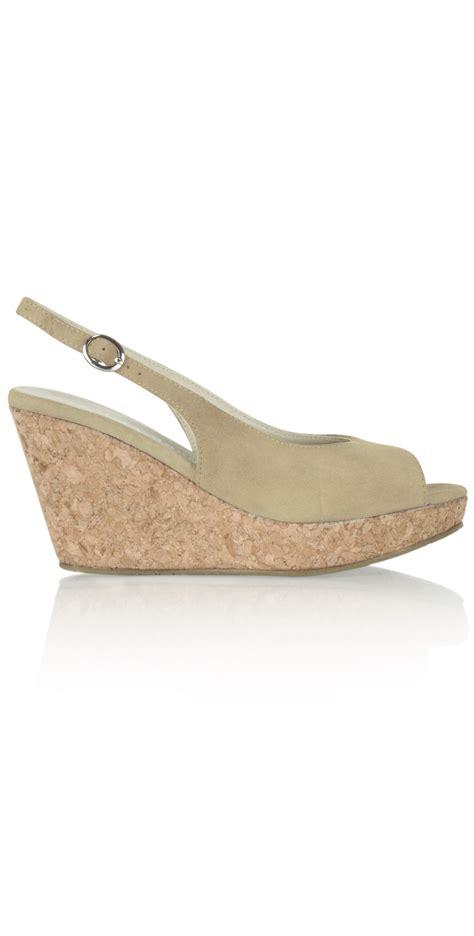 vanilla moon shoes suede wedge sandal in beige
