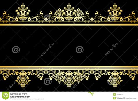 vector luxury banner border royalty free stock photos black and gold background royalty free stock photos
