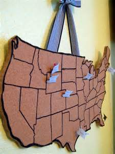 cork board map of the us a s idea file travel cork board map