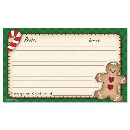 Gingerbread Recipe Card Template by Gingerbread Recipe Cards 3 X 5 Current Catalog