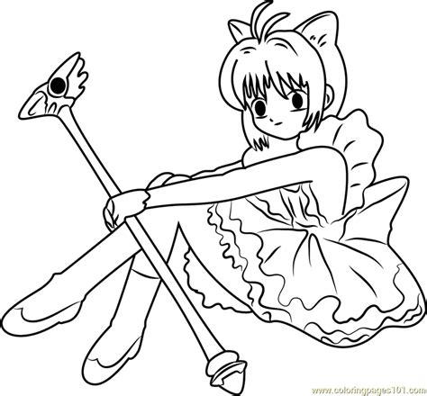 cardcaptor sakura coloring page free cardcaptor sakura