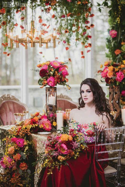 mystical red wedding theme elegantweddingca
