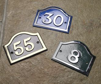 Brass Arched House Number Signs Black Country Metal Works Front Door Number Plates