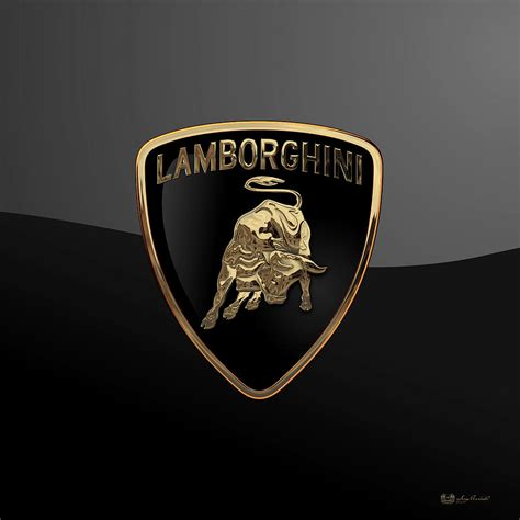 logo lamborghini 3d lamborghini 3d badge on black digital by serge averbukh