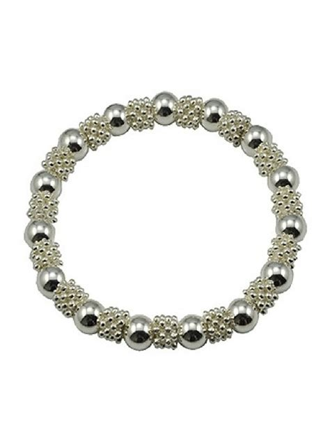 stretch bead bracelets silver plated bead stretch bracelet small laurie jules
