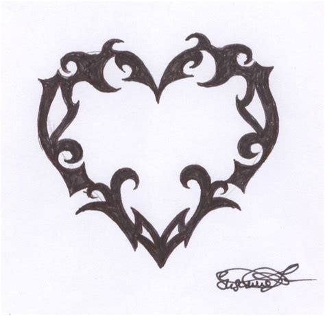 heart tattoo by dessi goes gothic on deviantart