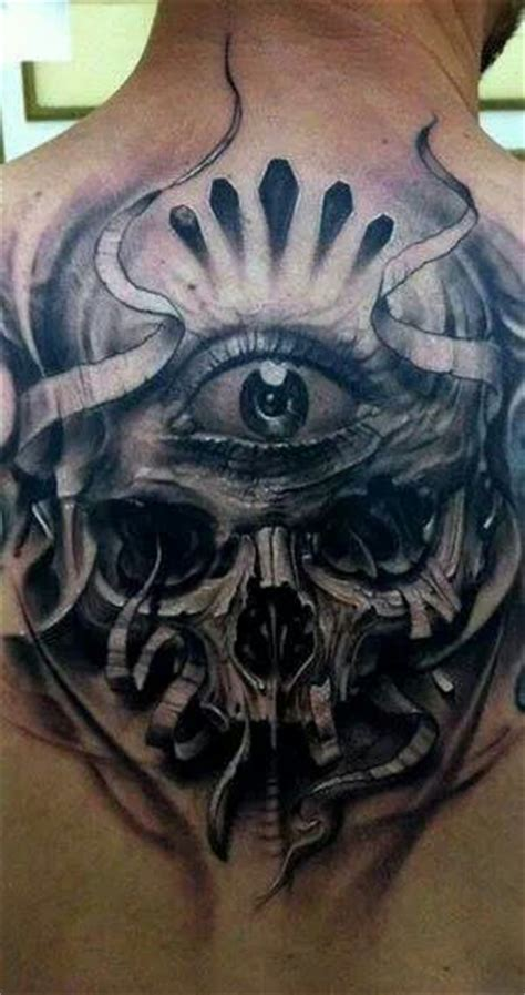 eye tattoo with skull third eye eyes and skulls on pinterest