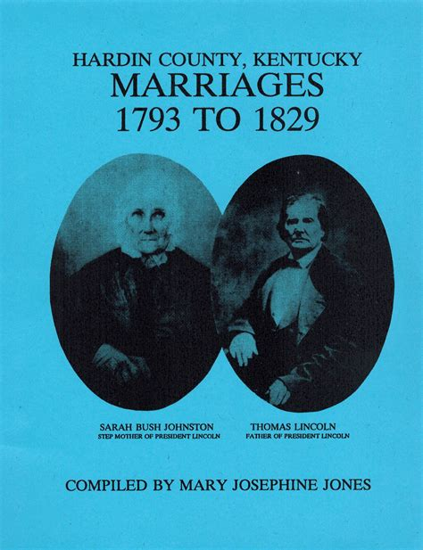 Hardin County Ky Records Hardin County Kentucky Marriages 1793 To 1829 Ancestral Trails Historical Society