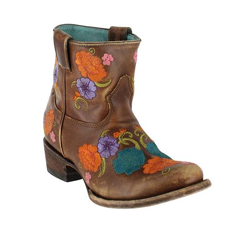 s floral boots corral s shorty floral embroidered western boots