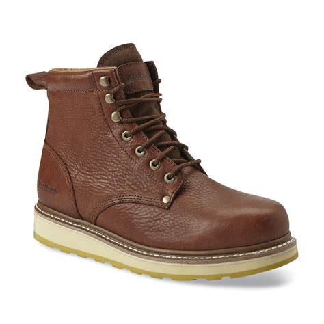 sears mens shoes and boots diehard brown s leather boot get durable work wear at