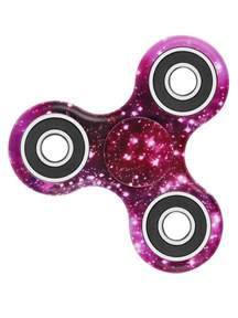 star sky print focus toy stress relief fidget spinner in