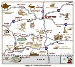colorado springs tourist attractions map 18 best images about colorado maps on colorado