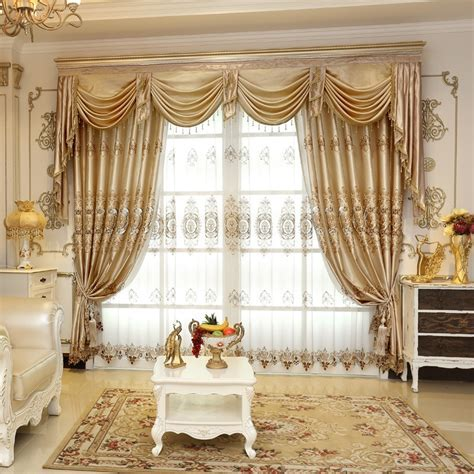 ?Embroidered Luxury Window Curtains For ? Living Living