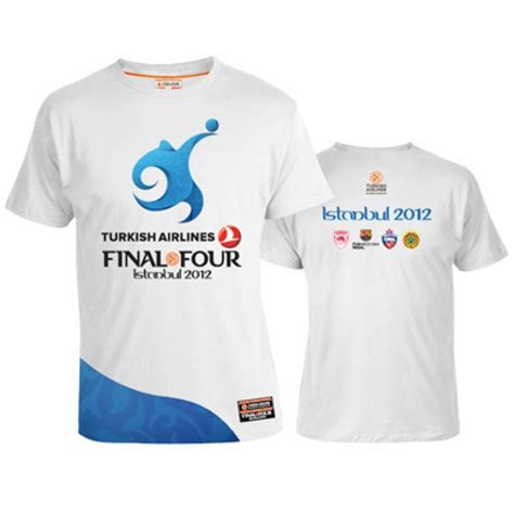 Tshirt Turkish Airlines f4 istanbul 2012 logo t shirt euroleaguestore net