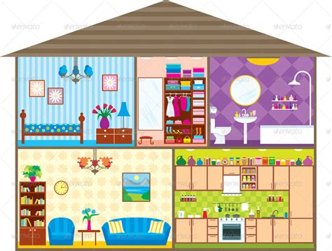 house layout clipart house by gurzzza graphicriver