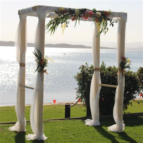 Wedding Arch Hire Newcastle by 4 Post Timber Arbor Events2celebrate Wedding Planning