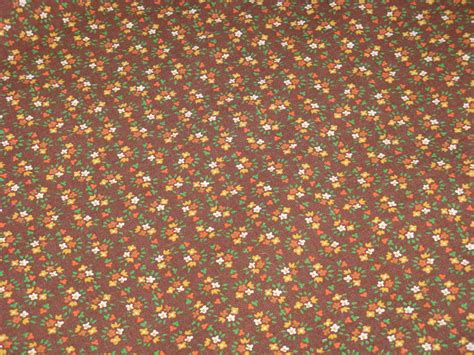 calico upholstery fabric vintage calico cotton fabric brown background with tiny