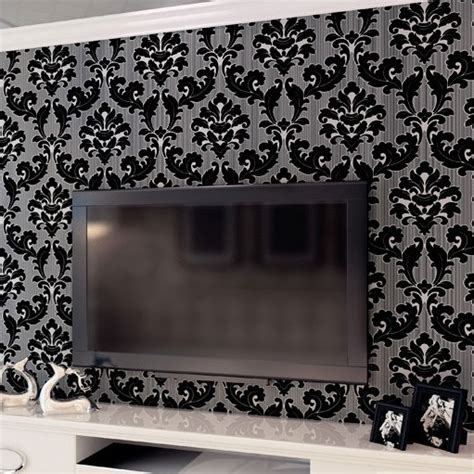 black damask wallpaper home decor classic wall paper home decor background wall damask