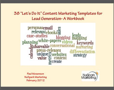 A New Ebook Content Marketing Templates For Lead Generation Nuspark Marketing Lead Generation Strategy Template