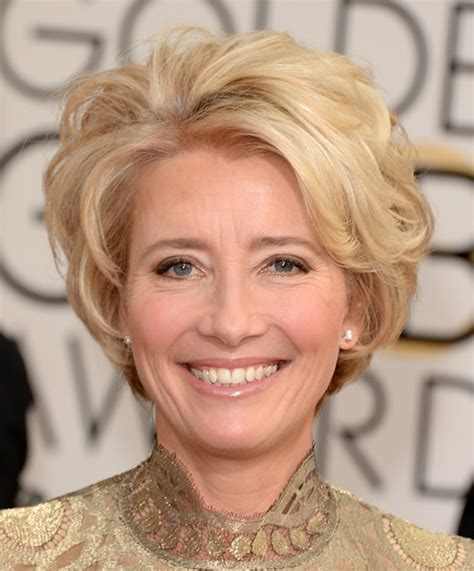 blondes after 50 emma thompson short wavy cut short hairstyles lookbook