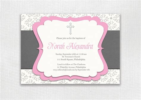 baby girl baptism invitations baby girl baptism