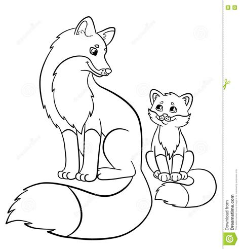 coloring pages mother and baby baby fox coloring pages chagarkennels com