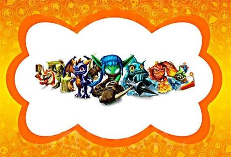 1000 Images About Skylanders On Pinterest Birthdays Skylanders And Favors Skylanders Birthday Invitations Template