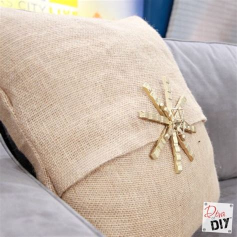 How To Sew Burlap Pillows by How To Make Easy No Sew Burlap Pillow Covers Of Diy