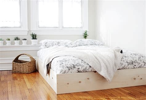 easy diy bed frame 10 cool diy bed frames in various styles shelterness