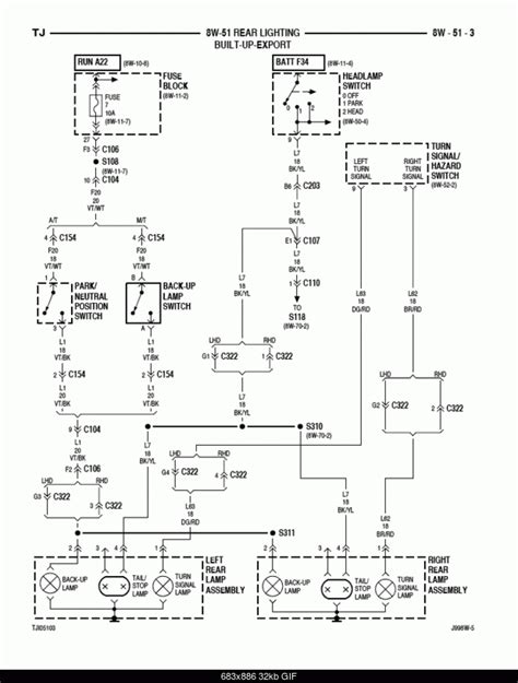 jeep yj light wiring diagrams wiring diagram