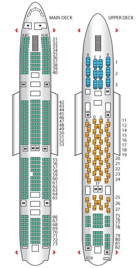 a380 floor plan seat plan for the thai airways a380 800 airplane
