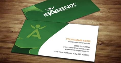 isagenix business card template isagenix business card design 1 network marketing