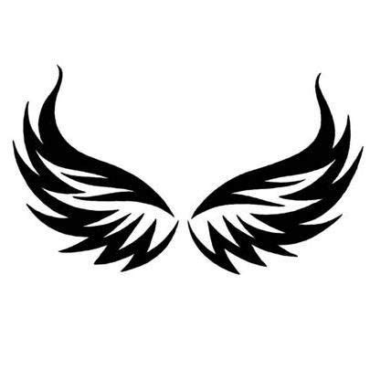 tribal wings tattoo meaning eagle wings minus top point and a crest in the middle
