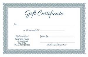 Certification Of Gift Letter Formal Gift Certificate Templates